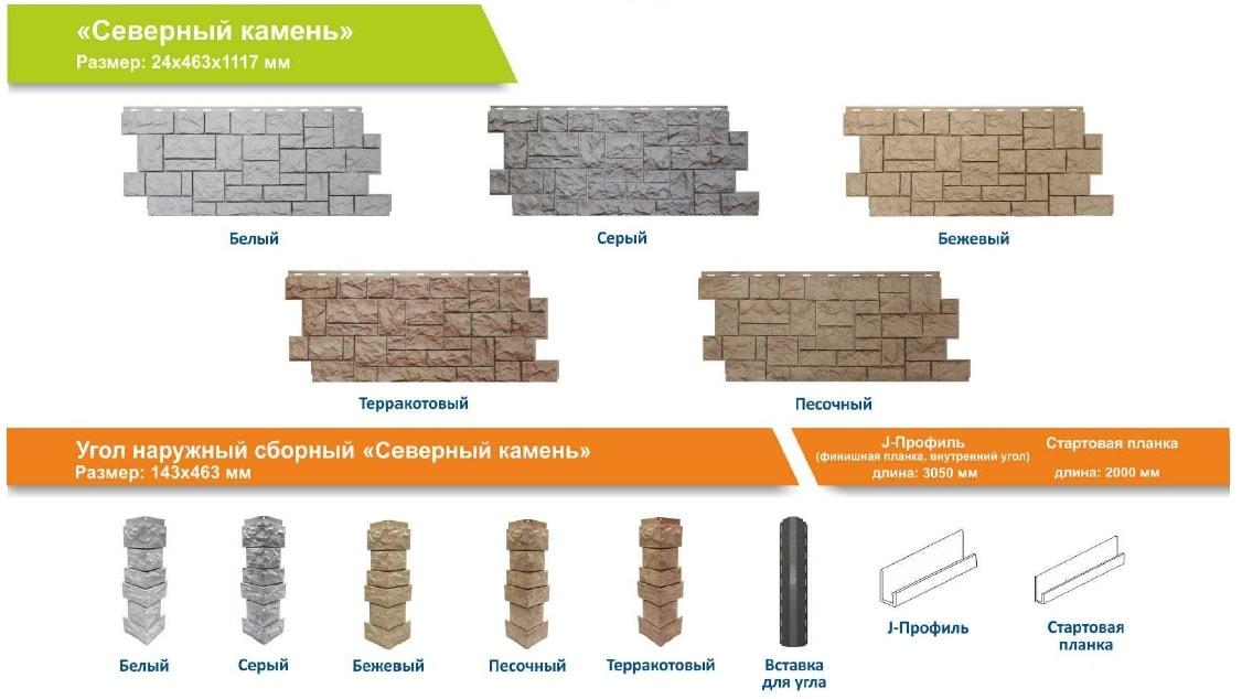 Фасадные панели серия «Северный камень»