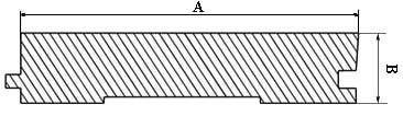 Половая доска (А*В мм): 116*27, 116*35, 45*132